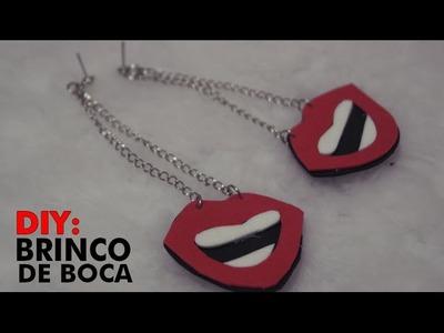 DIY - BRINCO DE BOCA (FUNNY EARRING) - Marcela Maria (VEDA4)