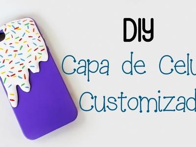 DIY: CAPA CELULAR Customizada com COLA QUENTE E ESMALTE - Fácil, Rápido e Barato!