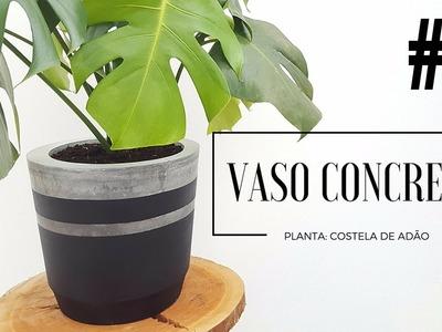 DIY - COMO FAZER UM VASO DE CIMENTO COM BALDE