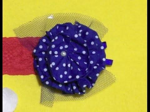DIY Flor em espiral  | Tiara Galinha Pintadinha | Headband
