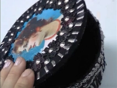 DIY: PORTA JOIA VINTAGE DE GARRAFA PLÁSTICA.JEWELRY BOX VINTAGE WITH PLASTIC BOTTLES