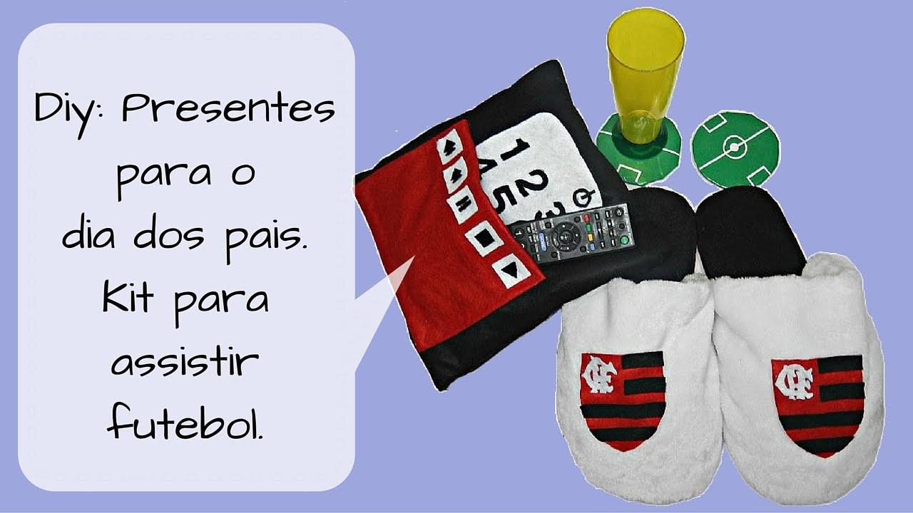 Diy: Presentes para o dia dos pais (kit para assistir futebol).
