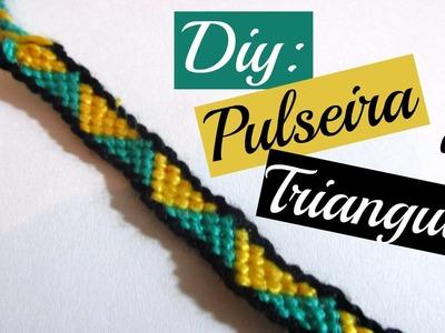 DIY: Pulseira de Triangulos