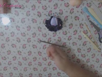 DIY - Rapunzel em biscuit - passo a passo
