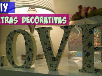 Como Decorar Letras de MDF | DIY