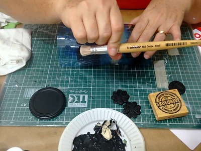 DIY - Arte com vidro reciclável