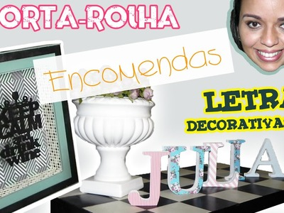 DIY - Letras decorativas + Porta Rolha 2 | Encomendas :: Rebeca Salvador
