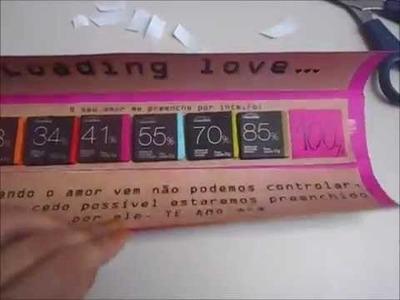 DIY: Cartão romântico Cacau Show