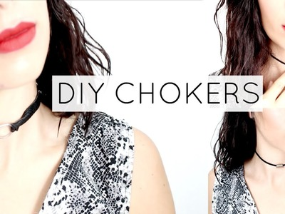 DIY Chokers - Gargantilhas | Be Creative Be You