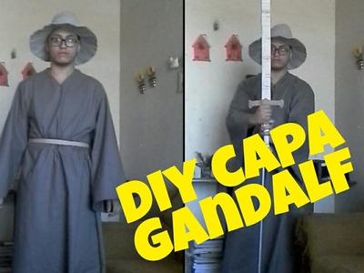 DIY-como fazer a capa do gandalf cosplay tutorial o senhor dos anéis