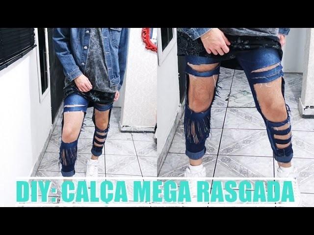 DIY: Calça mega rasgada | VEDA18