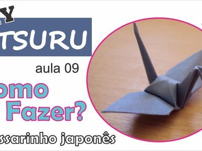 DIY | Como fazer um tsuru de origami (aula 09) - Dobrando mais rápido 02