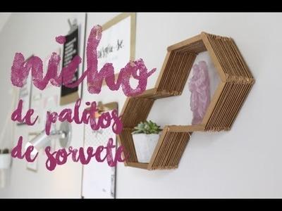 #DIY Nicho de palitos de sorvete