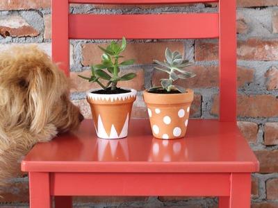 Vasinhos de cerâmica pintados - DIY Dicas Rápidas