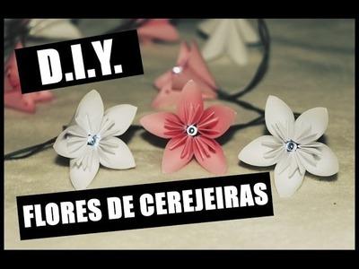 D.I.Y. - Flores de Cerejeira Iluminadas (com pisca-pisca de Natal) ♡