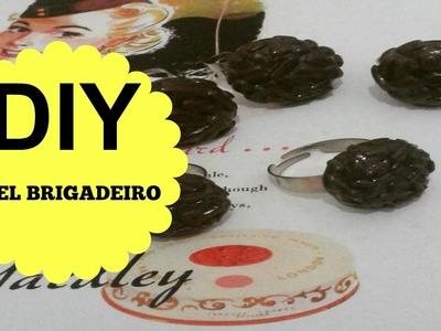 DIY ANEL BRIGADEIRO - BISCUIT - POLYMER CLAY - MASSA DE MODELAR - TUTORIAL