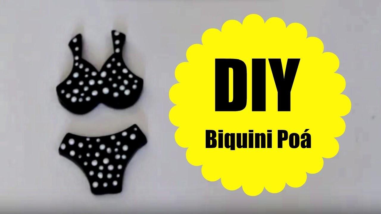 DIY - Biquini Poá - BISCUIT - POLYMER CLAY - MASSA DE MODELAR - TUTORIAL
