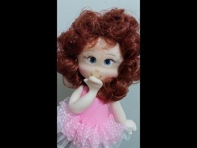 DIY- Fran aulas - boneca cabeluda topo