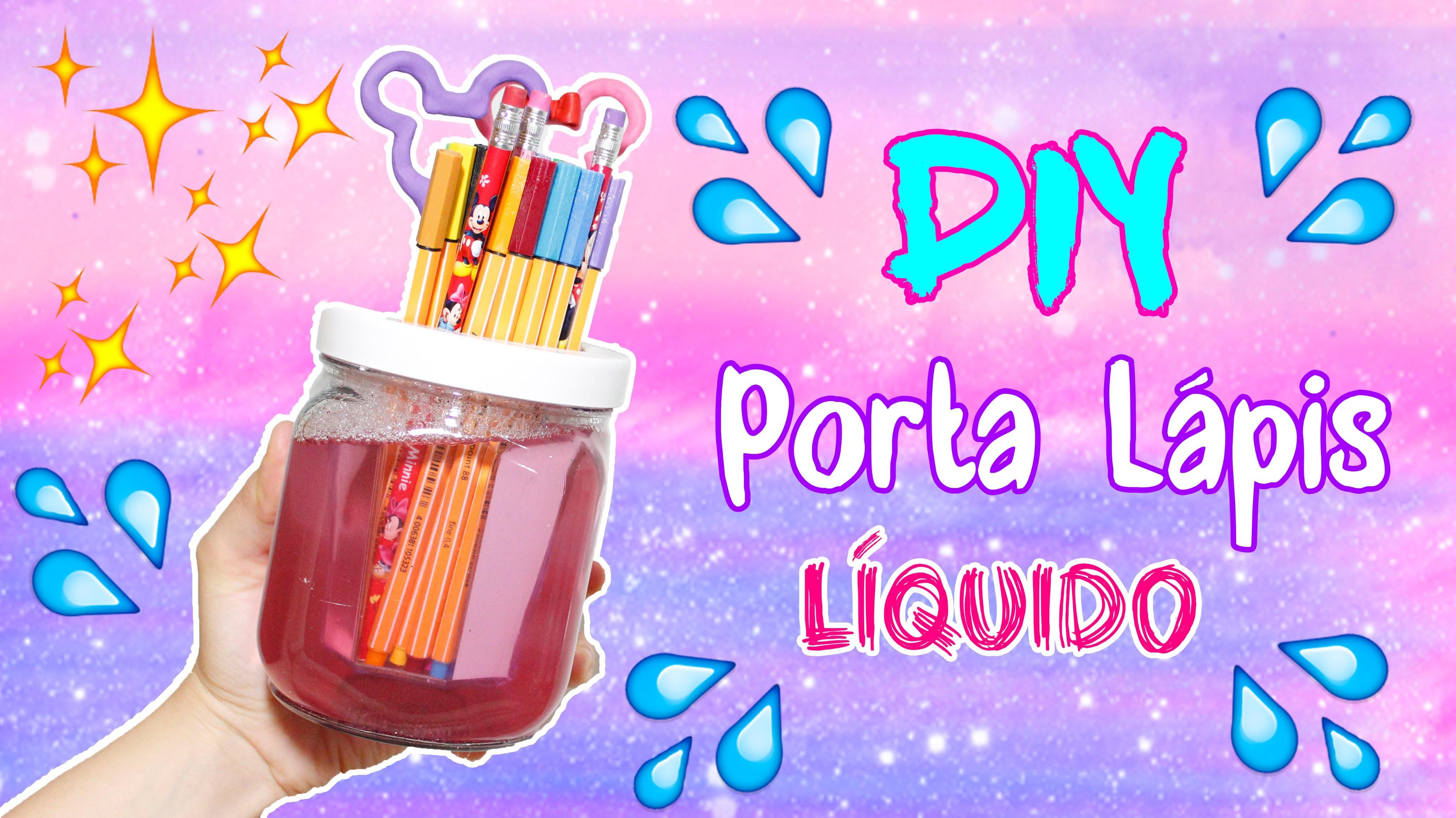 DIY - PORTA LÁPIS LÍQUIDO - por Prih Gomes