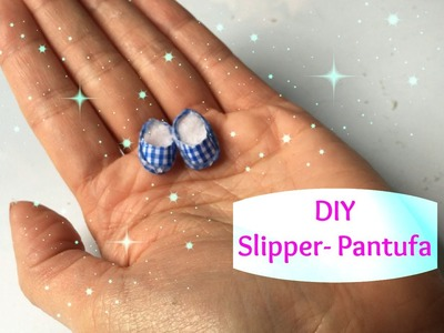 #14  DIY Miniature Doll Slipper-Miniatura de Pantufa