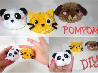 Como fazer Bichinhos de Pompom - DIY Pom Pom Animals