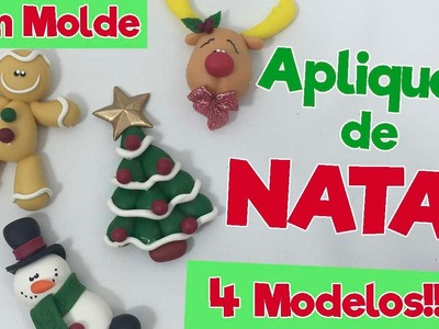 DIY - Apliques de NATAL em Biscuit (SEM MOLDE) - Sah Passa o Passo