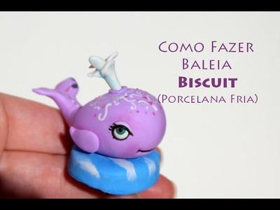Diy Baleia fofa tutorail biscuit ballena porcelana fria whale , brincando com playdoh