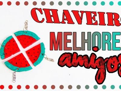 DiY: Chaveiro.colar Melhores amigos de COLA QUENTE| DIY EXPRESS |Tatiane Xavier