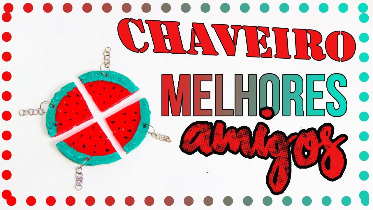 DiY: Chaveiro.colar Melhores amigos de COLA QUENTE  DIY EXPRESS  Tatiane Xavier