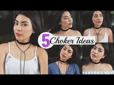DIY: Choker 5 ideas ♡ | Rebeca Mendiola