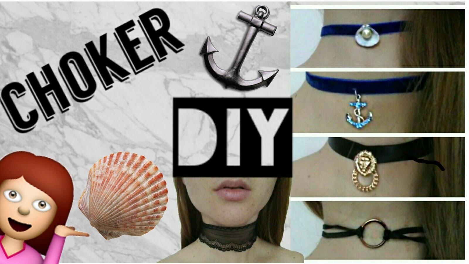 DIY: Choker necklace | faça você mesmo GARGANTILHA