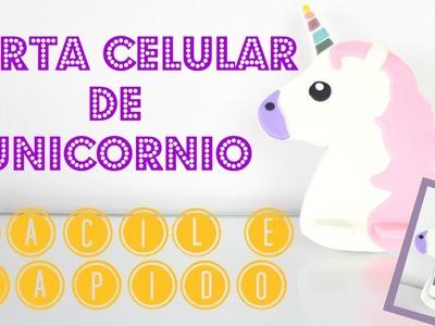 DIY Como Fazer Porta Celular de UNICÓRNIO | Larissa Vale