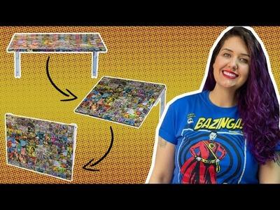 Mesa Dobrável de Parede HQ.Comic Book - DIY Geek