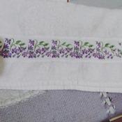 Toalha de Rosto Floral