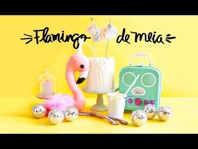 DIY: Flamingo de Meia