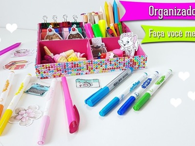 DIY   Organizador de mesa para Material escolar
