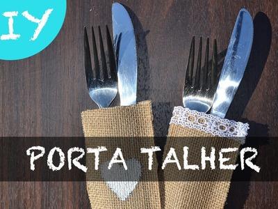 DIY PORTA TALHER - MEU CASAMENTO RUSTICO#2