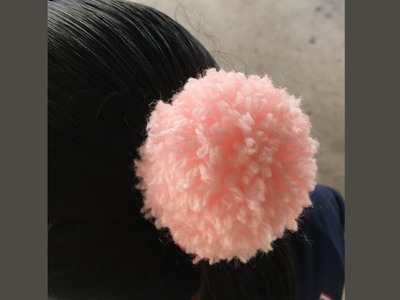 Pompom de lã no Elástico - Xuxinha de Pompom - DIY