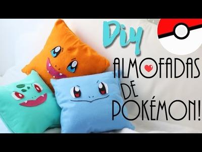 DIY: Almofadas de Pokémon - Charmander, Squirtle e Bulbassauro! ft. Projeto DIY