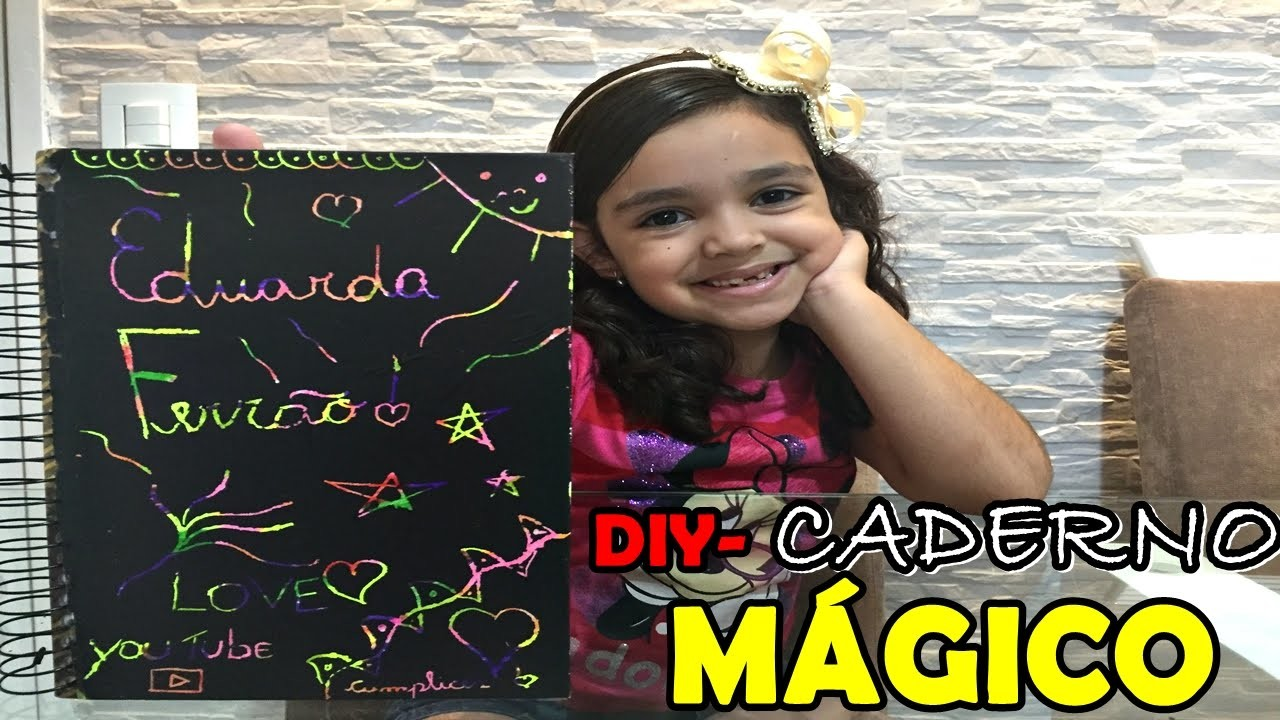 DIY: CADERNO MÁGICO - DIY crafts: MAGIC NOTEBOOK