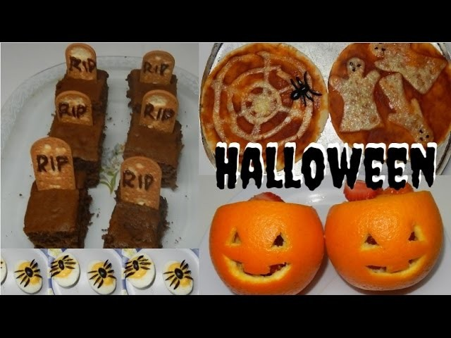 DIY: Comidas decoradas para Halloween (Halloween food) 4 ideias por Pricity. #2