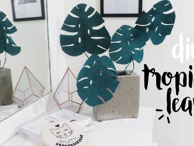 DIY Folhas Tropicais para Decor | Pinterest Inspired