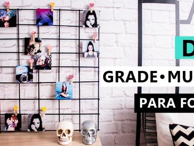 DIY Grade para fotos - Mural decoração com PALITO de Churrasco