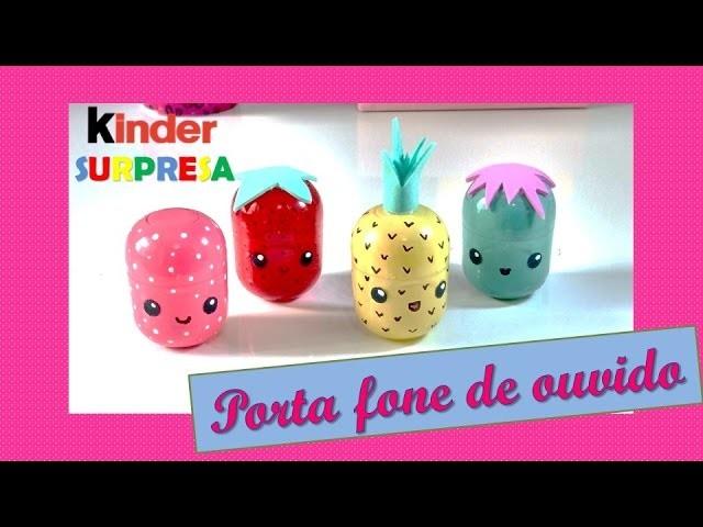Diy Kinder Surpresa Porta Fone De Ouvido Kawaii