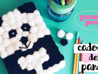 DIY  MATERIAL ESCOLAR - CADERNO PANDA. DIY SCHOOL SUPPLIES