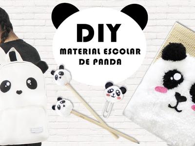 DIY MATERIAL ESCOLAR DE PANDA: LÁPIS, CADERNO, CLIPS E MOCHILA