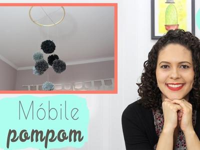 Como fazer um móbile com pompom perfeito - DIY ❤ Mariana Martins