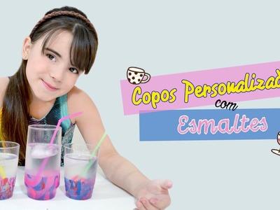 Copo personalizado com Esmalte - DIY ❤ Manu Ribeiro