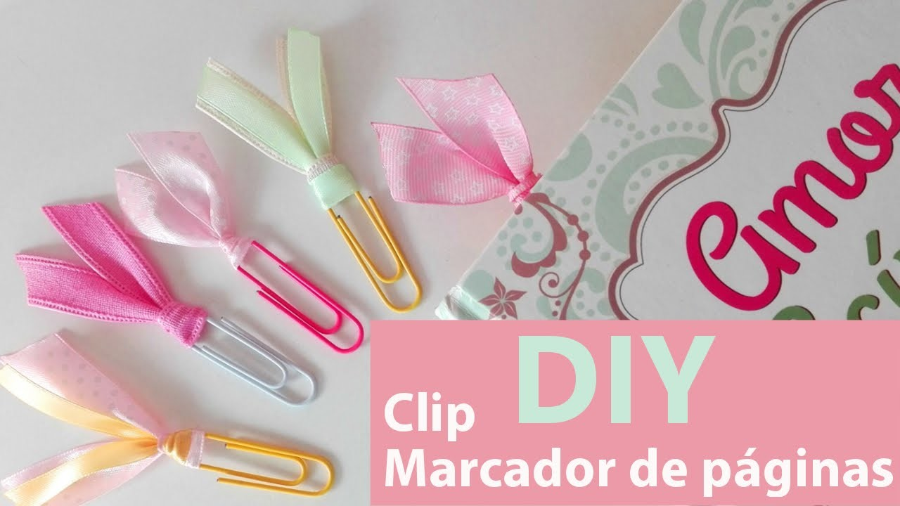DIY CLIP MARCADOR DE PÁGINAS