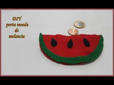 DIY Porta moeda de melancia